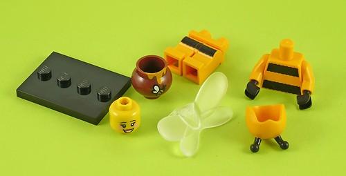 71001 LEGO Minifigures Series 10 07 Bumblebee Girl 06