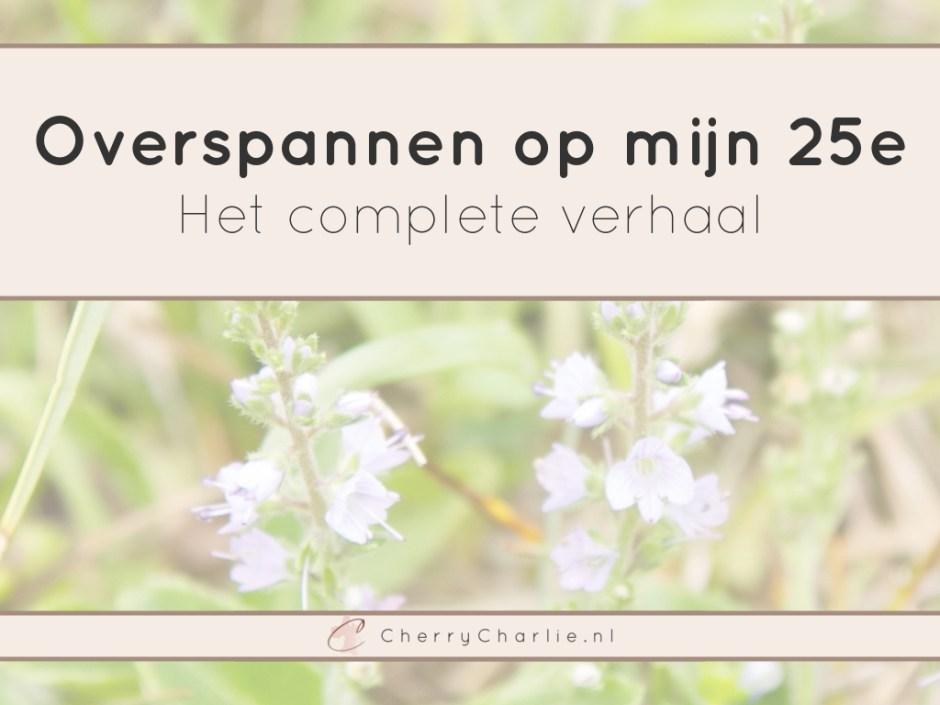 Overspannen op mijn 25e: Het complete verhaal • CherryCharlie.nl