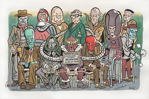 "DWA 2013 Art Auction: ""Super-Villain Vocational Reunion Class of 1964"" by Seth"
