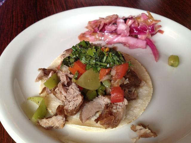 Crispy pork street tacos - Velvet Cantina