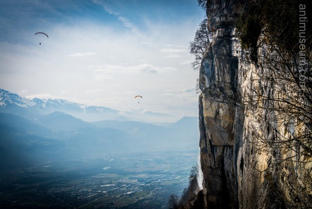 paragliders in the Alps