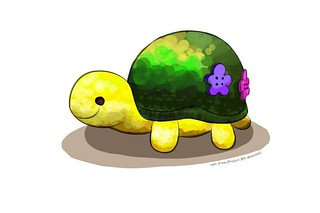 """""""Pincushion Tortoise"""" (#97: Project 365 Sketches)"""