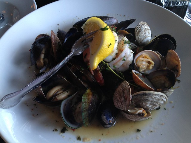 Steamed shell fish combination - Mission Street Oyster Bar