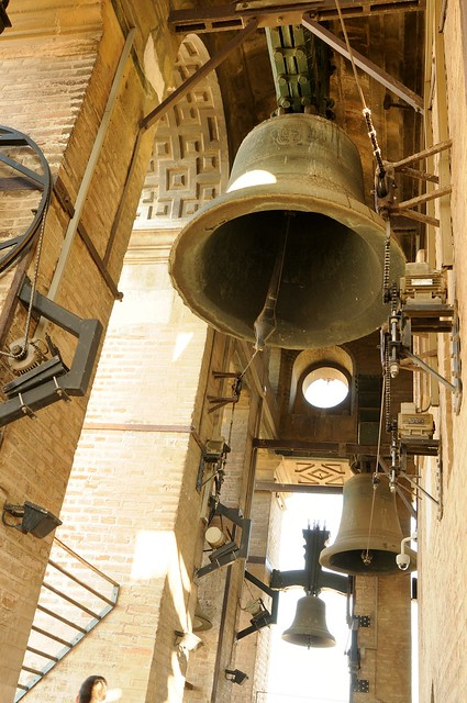 Church Bells Ringing At The Bell Tower Giralda At
