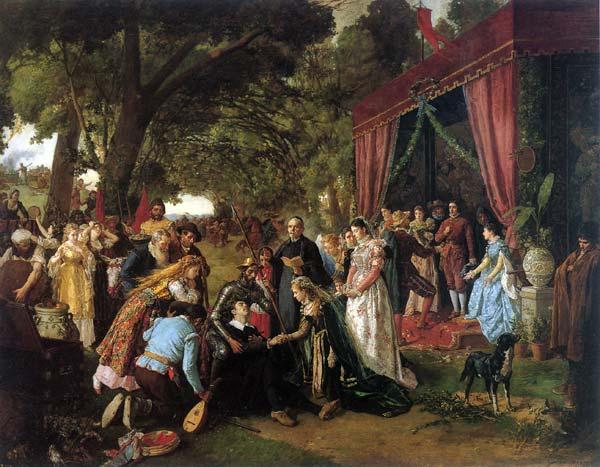 Casamiento de Basilio y Quiteria. Manuel García, Hispaleto. Óleo sobre lienzo (entre 1836 y 1898)