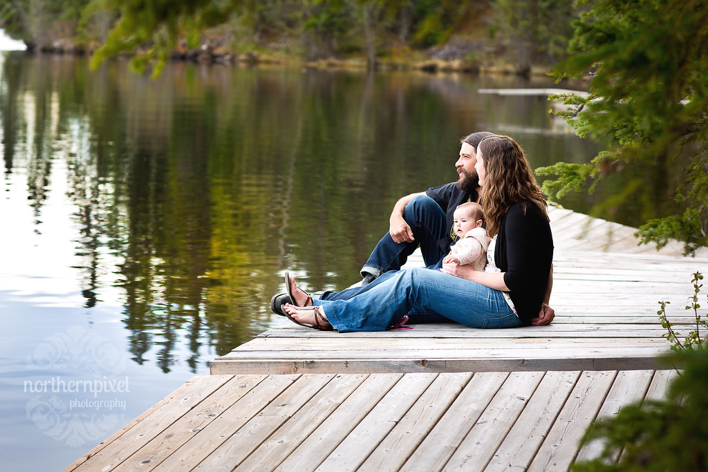 Family on the Dock