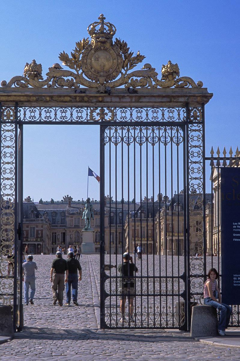 Entrada al palacio de Versalles