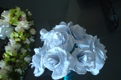 Our Lei and my Paper Bouquet