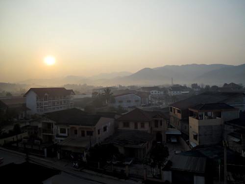 Town, not yet awake