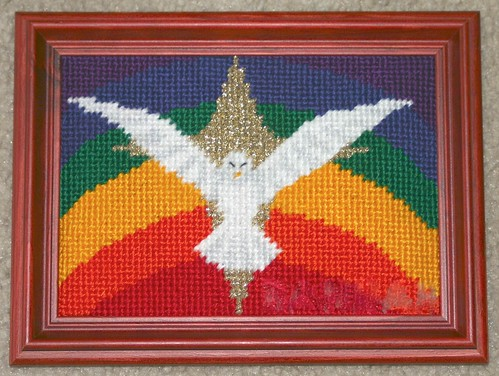 Rainbow Dove 1 Stitched by Carmen CS
