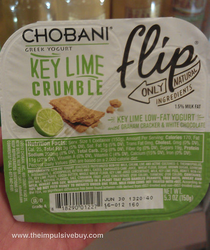 Chobani Key Lime Crumble Flip
