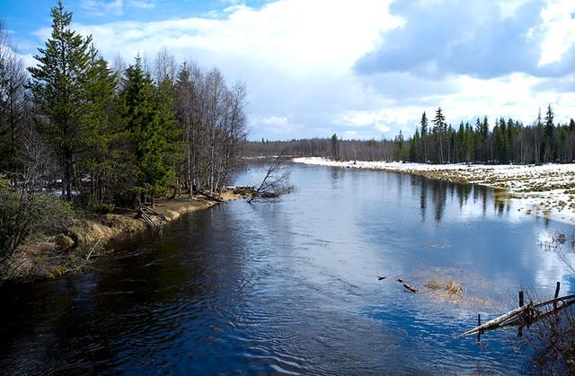 River Vaalajoki, Lapland, Finland