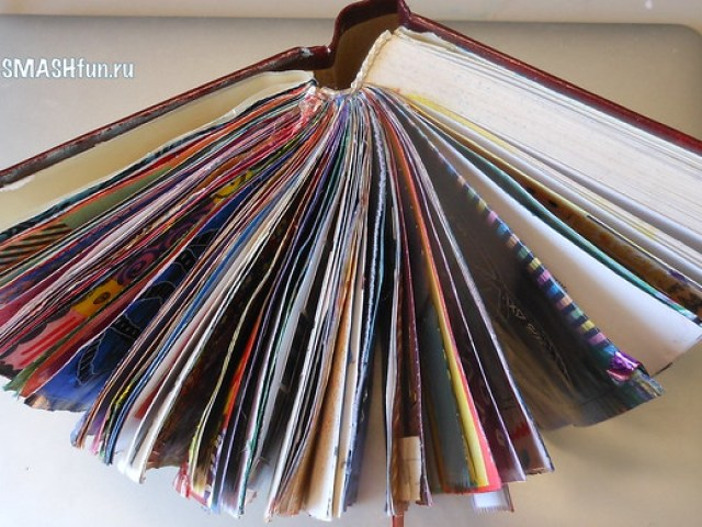смэшбук, артбук, творчество, smash book