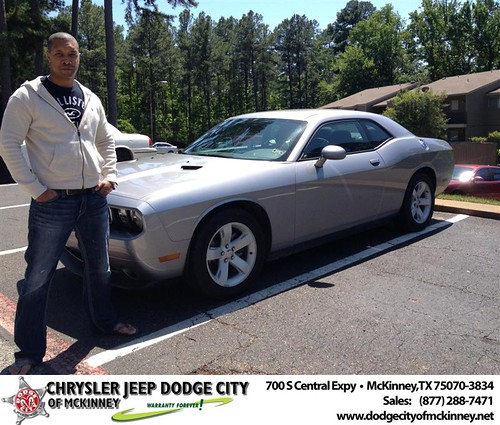 Dodge City of McKinney would like to say Congratulations to Brian Deamer on the 2013 Dodge Challenger by Dodge City McKinney Texas