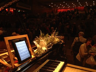 Angela Hewitt's score on iPad, Southbank Centre, London