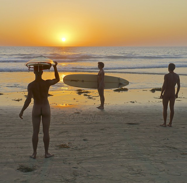 naturist surfers 0008 Blacks Beach, San Diego, CA, USA