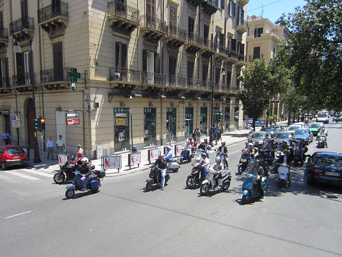 typical street scene in palermo