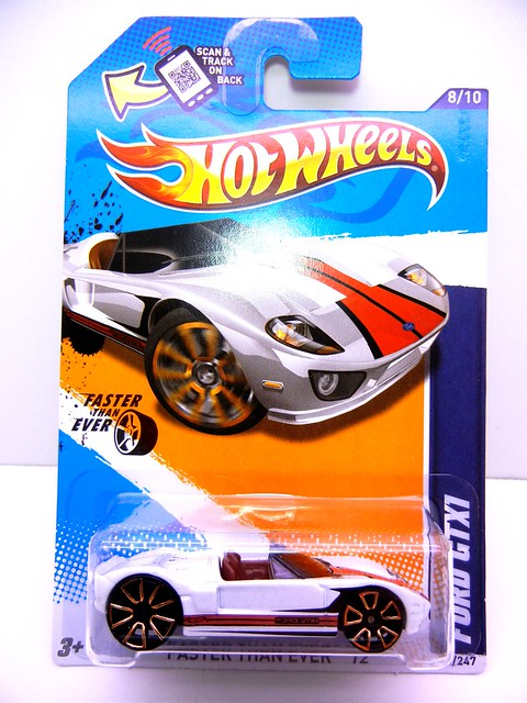 hot wheels ford gtx1 white  (1)