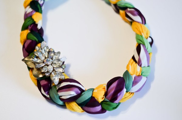 DIY Braided Scarf Statement Necklace Stars For Streetlights - Diy braided necklace