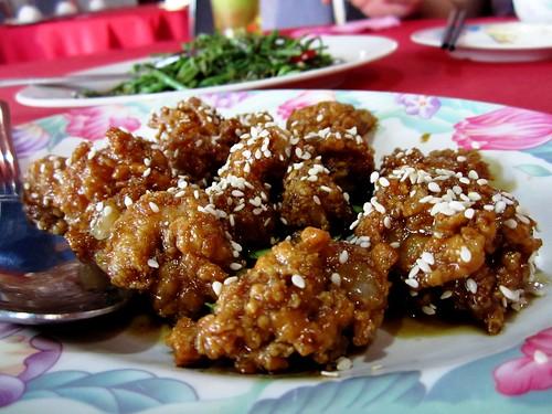 Ruby honey prawn balls