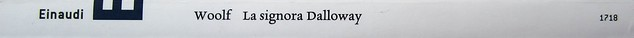 Virginia Woolf, La signora Dalloway, Einaudi 2012. Progetto grafico: 46xy. Dorso. (part.), 1