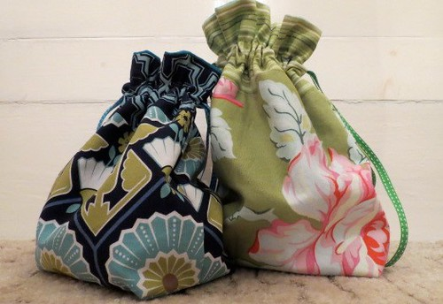 Drawstring bags by Samantha Halliwell
