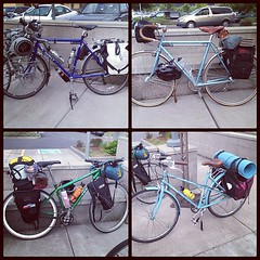 Bikes all ready for bike camping.