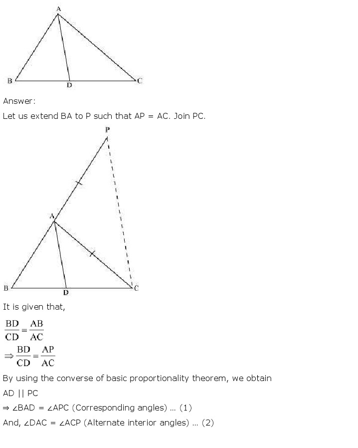 NCERT Solutions For Class 10th Maths Chapter 6 Triangles PDF Download 2018-19 NCERT Solutions For Class 10th Maths Chapter 6