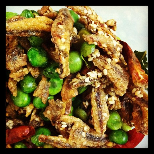 Thai deep fried ikan bilis mix
