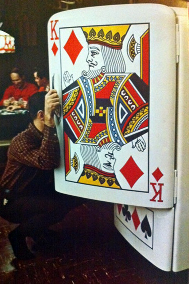 Playing card fridge