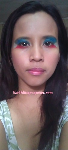 full front view Eye Wear My Flag Proudeye makeup