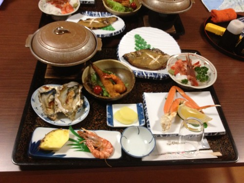 民宿「山根」の晩ご飯