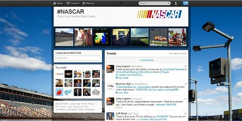 Screenshot halaman hashtag Nascar di Twitter