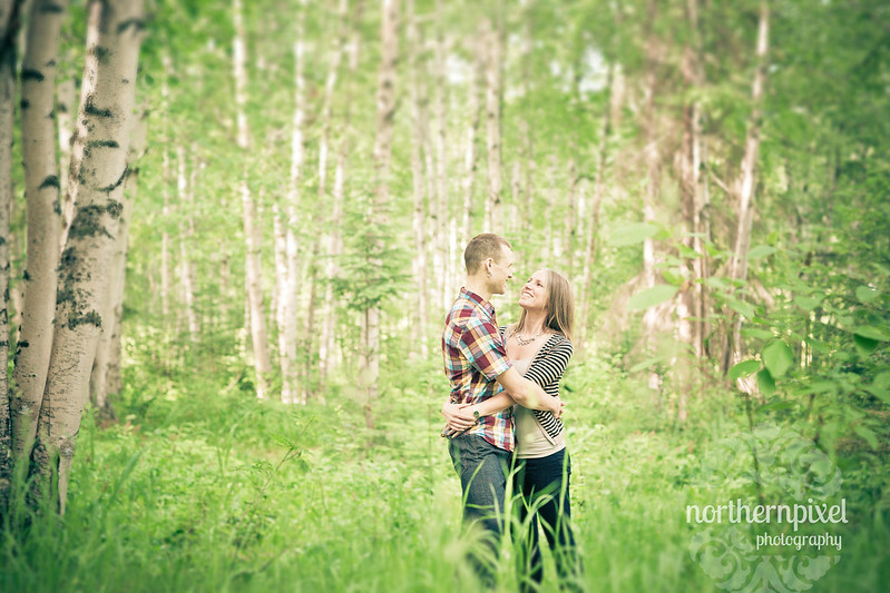 green field engagement session spring happy love
