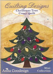 AnitaGoodesign  Christmas Tree Crazy Quilt Embroidery Design Disc