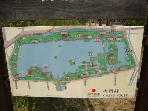 大明湖景区图