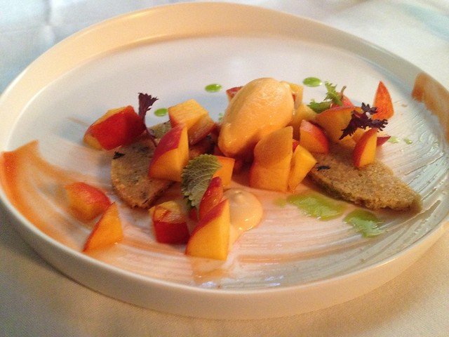 South Carolina peaches - McCrady's Restaurant