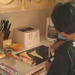 Eenan making his piggie