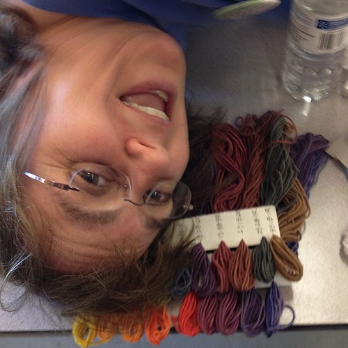I think Kim likes her yarn...
