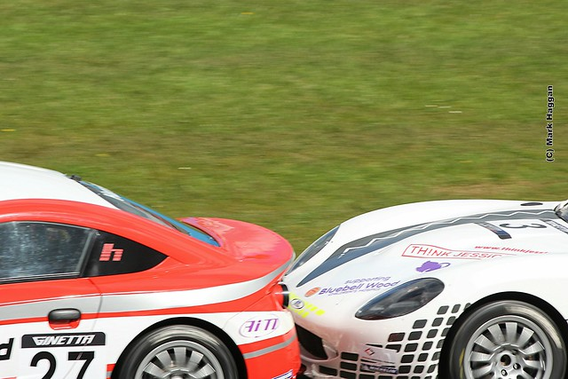 Ginetta Racing at the 2012 BTCC weekend at Donington Park in April 2012