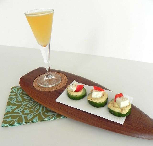 Insta-Party: Bitter Orange with Hummus, Feta, Cucumber Bites