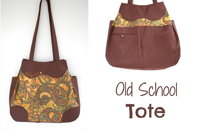old school tote: eco-friendly shoulder bag