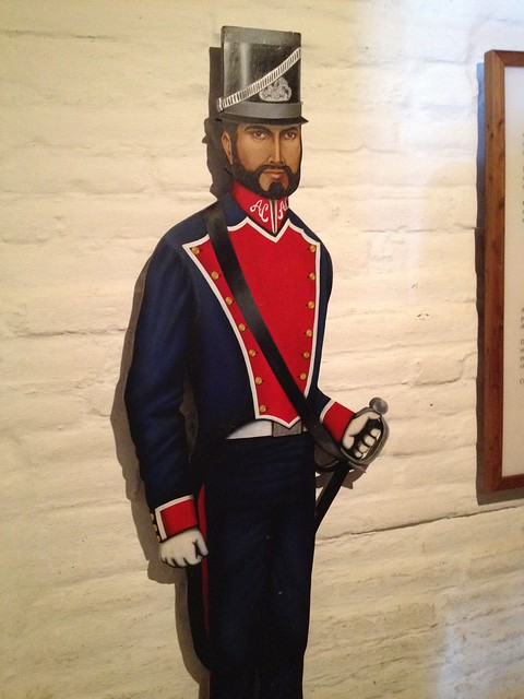 Mexican soldier cutout, Las Barracas de Sonoma