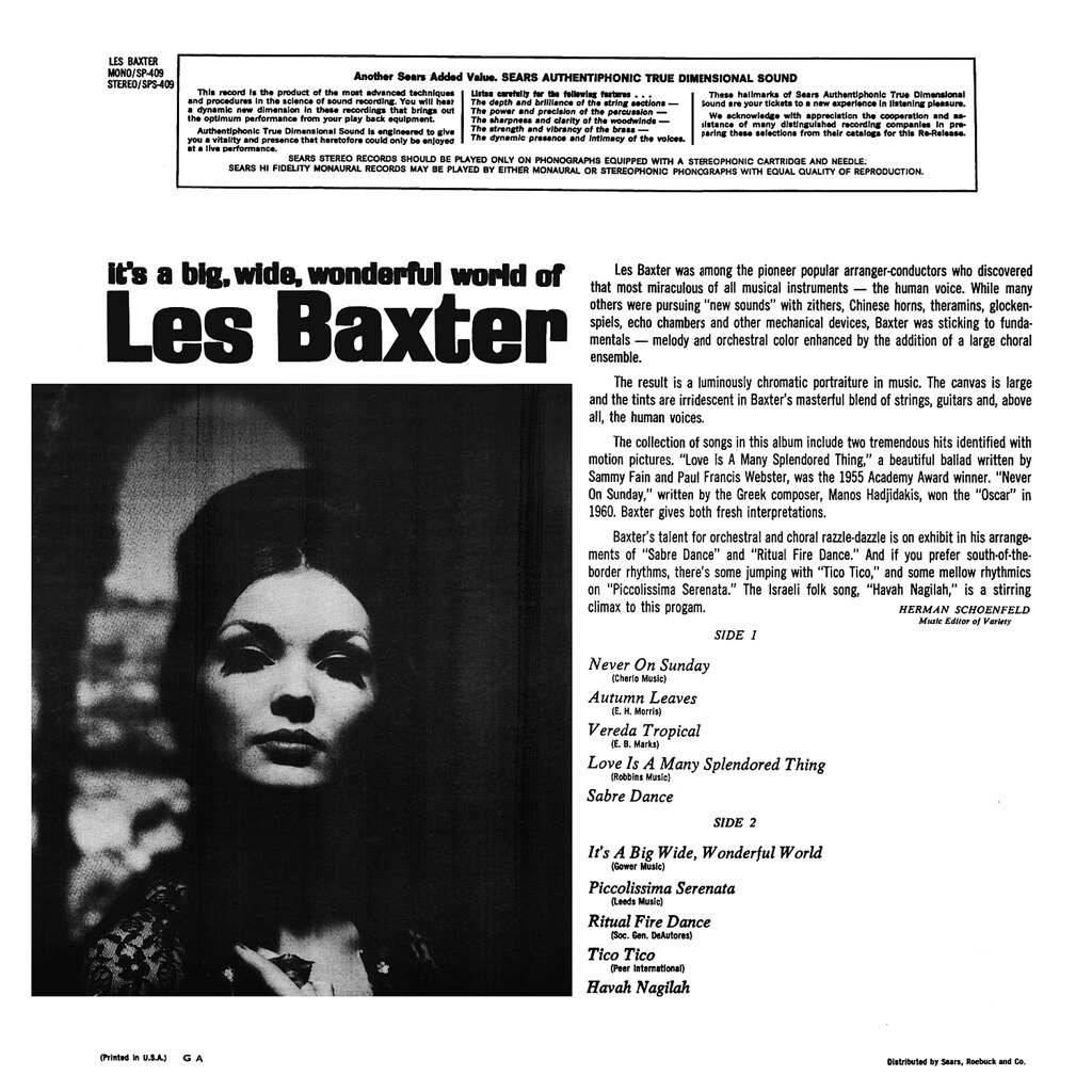 It's a Big, Wide, Wonderful World of Les Baxter