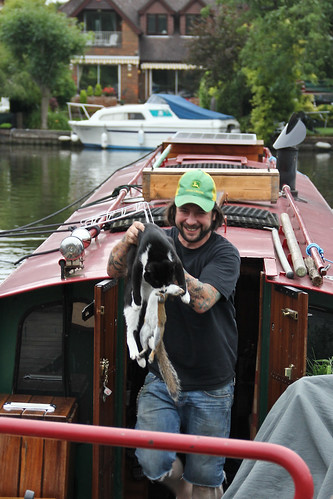 Cat with Dead Squirrel Ejected from Boat