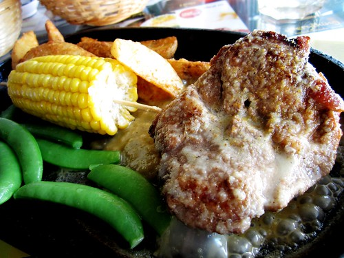 Sizzling pork chop with creamy sauce 1