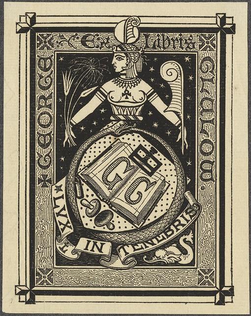 antigo Egito-temático gravura bookplate