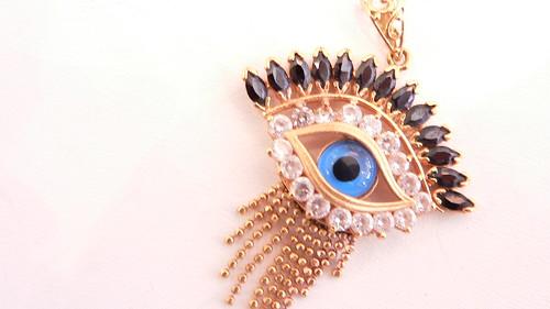 21kt evil eye charms by njdiamonds