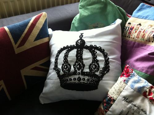 365:167 Jubilee Cushion (June embroidery journal)