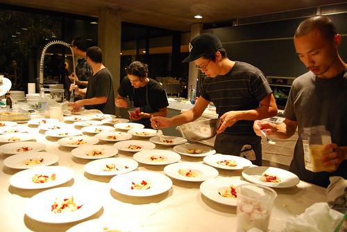 Prepping dessert